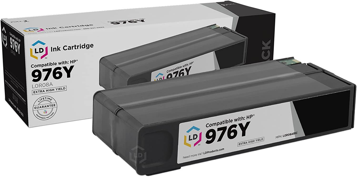 LD Remanufactured Ink Cartridge Replacement for HP 976Y L0R08A Extra High Yield (Black)