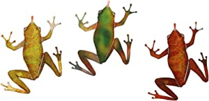 Next Innovations Metal Wall Art Frog Small Frogs 3 Piece Set