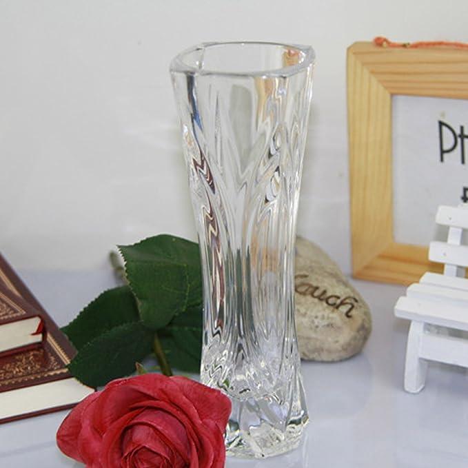 Gosear 2 unids Vaso de Flores de Plástico Transparente Vaso Decorativo Pieza Central para la Oficina del Hogar Aniversarios de Boda Cumpleaños Decoración ...