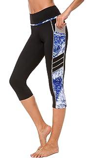 2daaa6c32f Sugar Pocket Womens Yoga Capris Running Pants Workout Legging Tummy Control  with Side Pocket