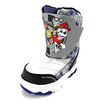 d2b026a2d4dc Paw Patrol Kids Winter Snow Boots (Grey Blue Marshall   Chase