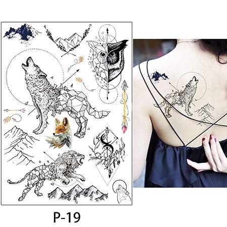 adgkitb 3 Piezas Color Dibujo Tatuaje Flamenco Lindo Gato Arte ...