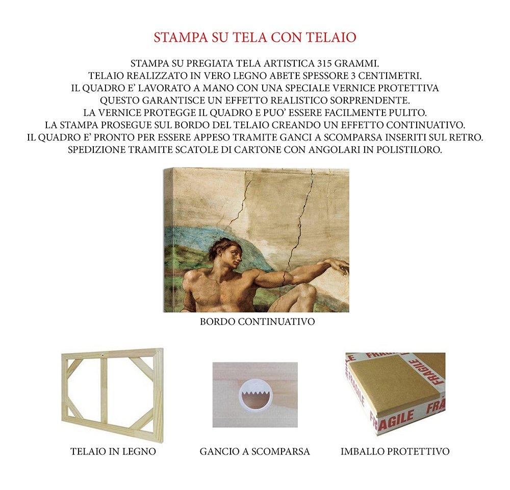 Rahmen Druck Druck Druck auf Leinwand mit Rahmen in Holz Sandro Botticelli Die Geburt der Venus 100x75 CM B07CJQGC8R Keilrahmen Schön und charmant 79ee1d