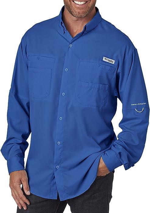 e96f1aad2 Columbia Men's Tamiami II Long-Sleeve Shirt, VIVID BLUE, XXX-Large ...