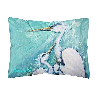 Caroline's Treasures MW1159PW1216 Mother's Love White Crane Canvas Fabric Decorative Pillow, 12H x16W, Multicolor : Garden & Outdoor