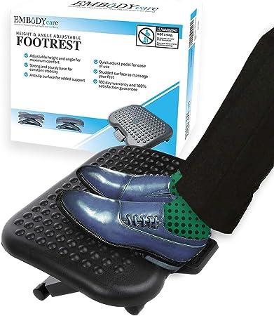 Adjustable Footrest Under Desk Ergonomic Office Foot Rest Computer Angled