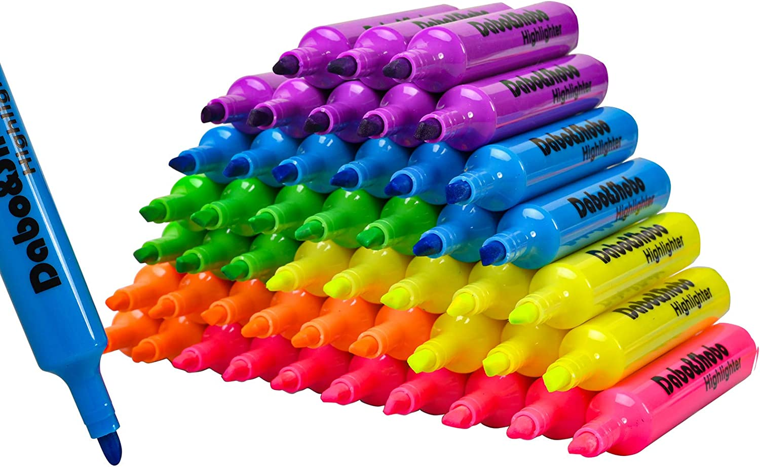 Dabo & Shobo Highlighters Set of 48, Colored Markers And Beautiful Combination Set Liquid Ink Fast Drying And Not Easy To Fade Are Suitable For Classroom, Office And Shop Short Style : Office Products