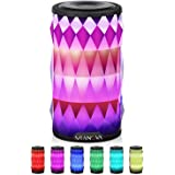 LED Bluetooth Speaker,Night Light Changing Wireless Speaker,MIANOVA Portable Wireless Bluetooth Speaker 6 Color LED…