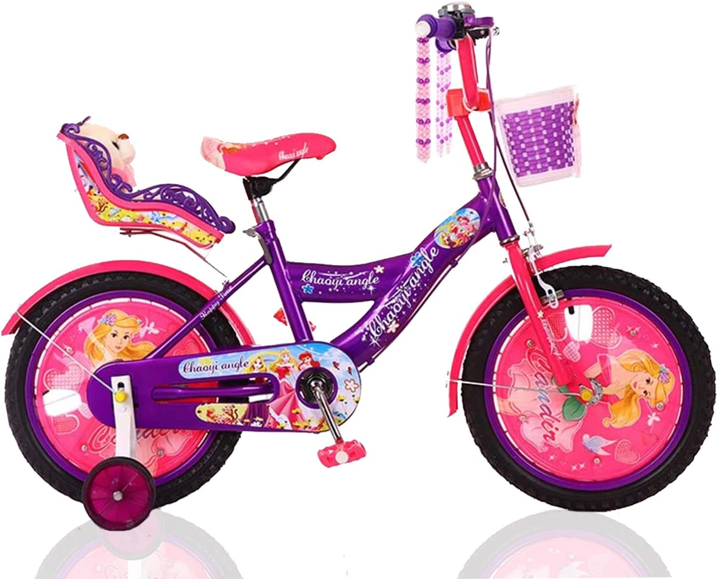 Ease-n-Comfort Girls Bike Lightweight Girl Bikes With Stabilisers Basket /& Dolly Seat Portable PINK Children Bikes Mountain Bicycles Sports Bike Removable Training Wheels FREE HELMET