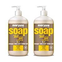 Everyone 3-in-1 Soap: Shampoo, Body Wash, & Bubble Bath, Coconut and Lemon, 32 Ounce...