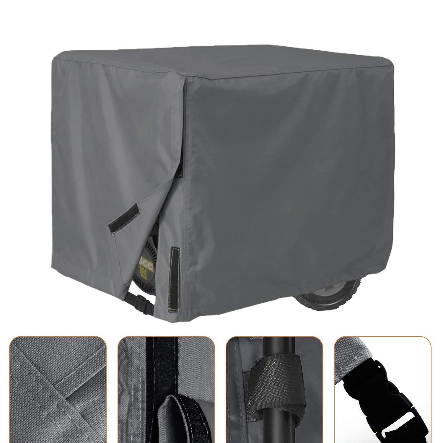 AKEfit Generator Cover Universal Waterproof Sunscreen Durable Heavy Duty Resistant Storage Cover Fits up to 28x38x30 inch Gray