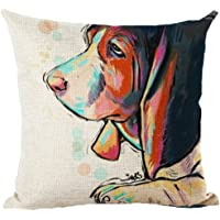 Moyun Cute Pet Dogs Pattern Cotton Linen Home Decor Throw Pillow Case Cushion Cover 45 x 45 cm