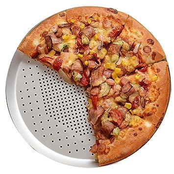 Bandeja de pizza Bandejas para Horno Pizza Redonda Aleación de Aluminio Perforación Zhixin Plato Bandeja para