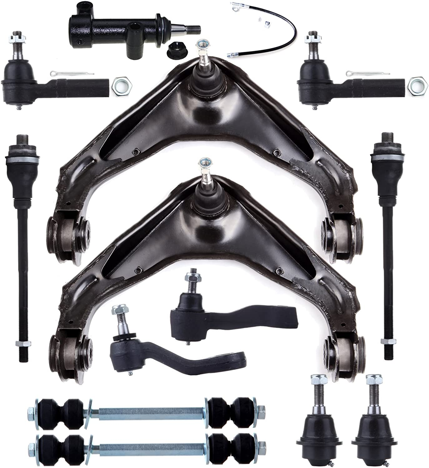15 New Pc Suspension Kit for Chevrolet GMC Hummer Control Arms Idler Arm Bracket