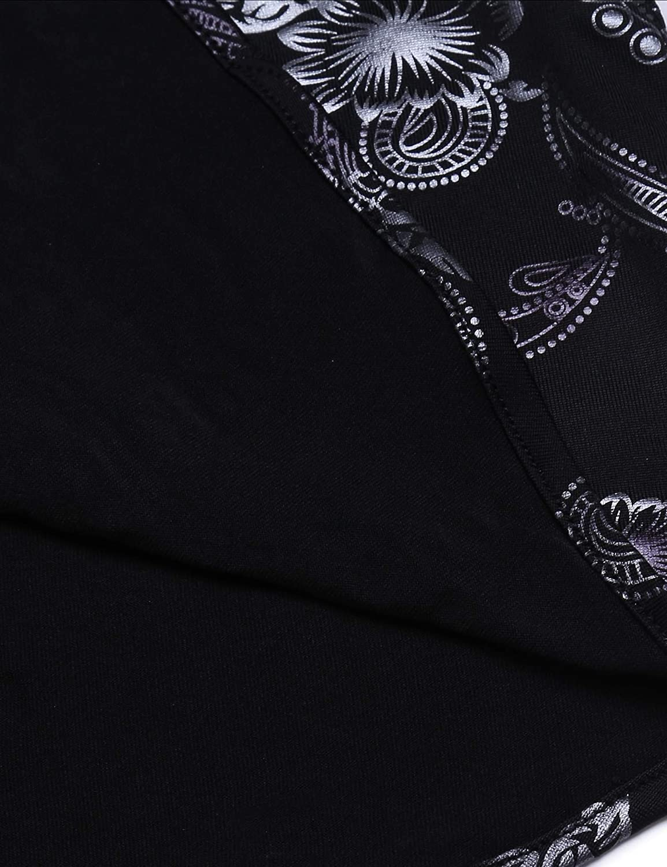 JINIDU Men/'s Luxury Design Shirt Paisley Print Long Sleeve Slim Fit Button Down Shirts