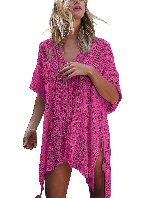 yidarton tunique de plage femme v tement de plage tricot. Black Bedroom Furniture Sets. Home Design Ideas