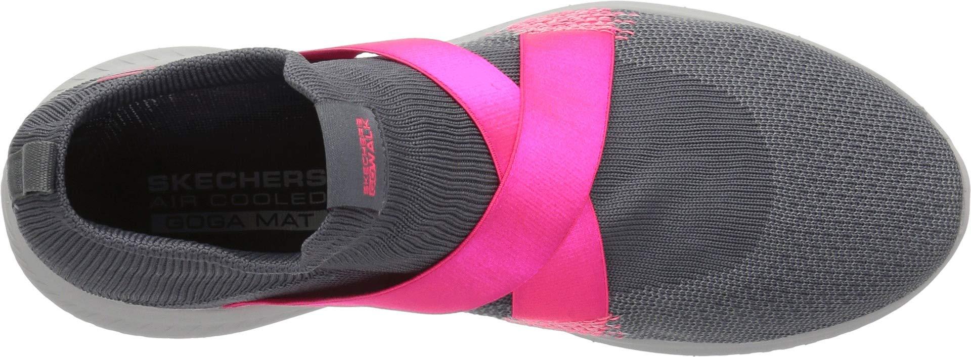 Skechers Performance Women's GO Walk Revolution Ultra-15669 Sneaker,Charcoal/hot Pink,8 M US by Skechers (Image #2)