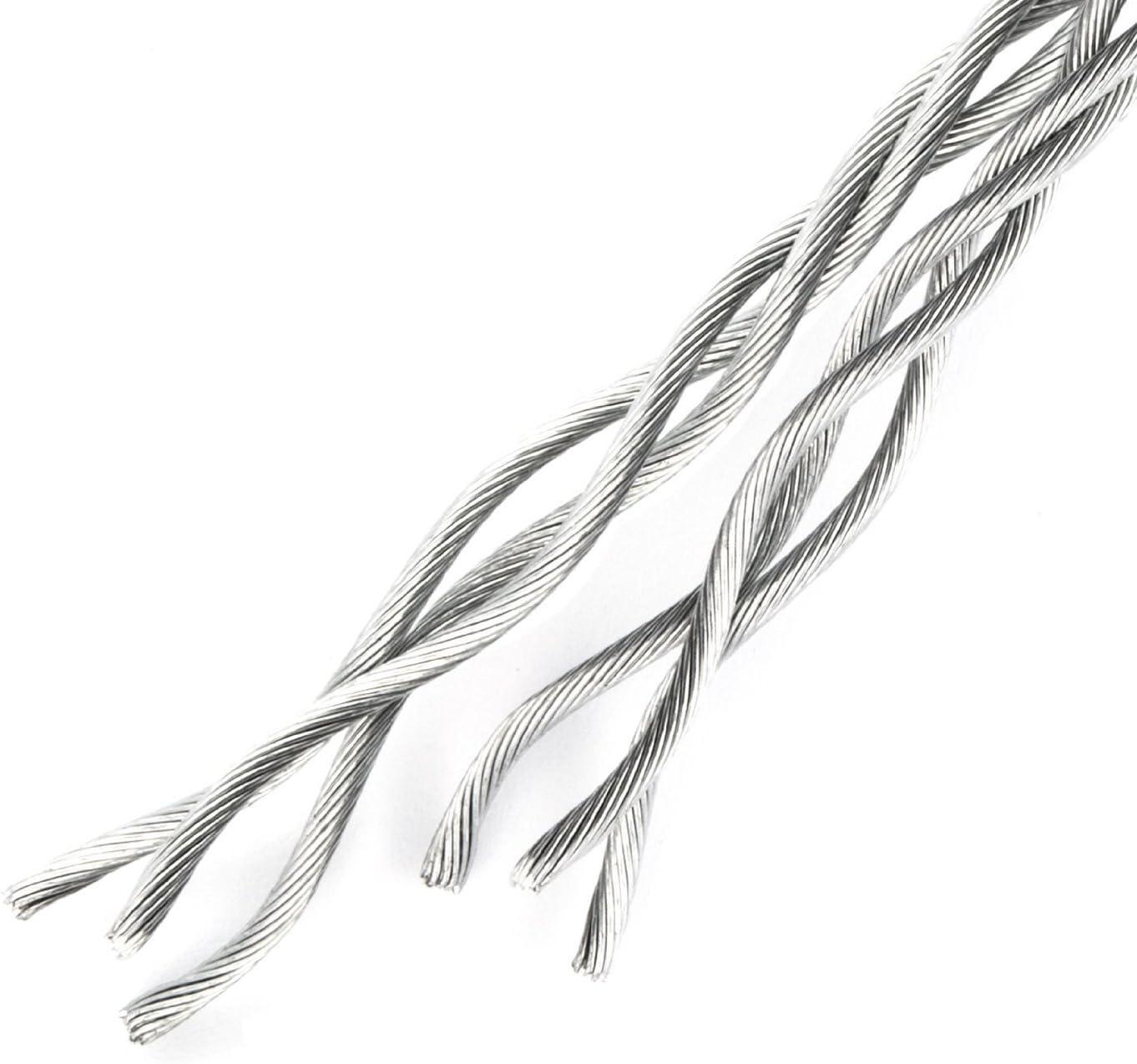 10m steel wire rope 6mm galvanised steel EN 12385-4 Strand 6x19+FC