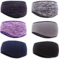 6 Pairs Ear Warmer Headband Fleece Thermal Winter Headbands Ear Muffs Warmers for Men & Women Running Yoga Skiing Cycling and Work Out in Cold and Freezing Days