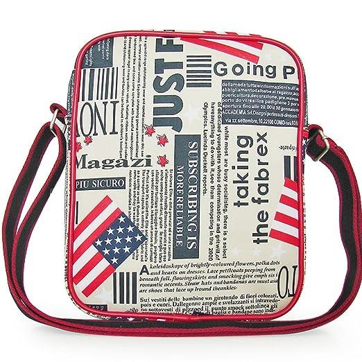 Amazon.com | SHIRUITU Unisexs Black American Flag Nylon Messenger Bags | Messenger Bags