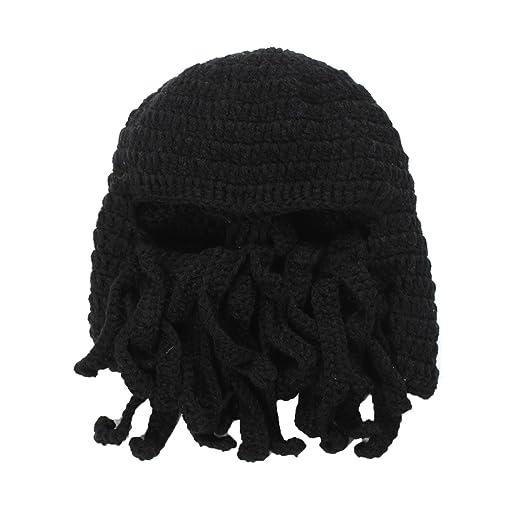 FMU Cuttlefish Crochet Knit Hat Cthulhu Octopus Hats Beanie