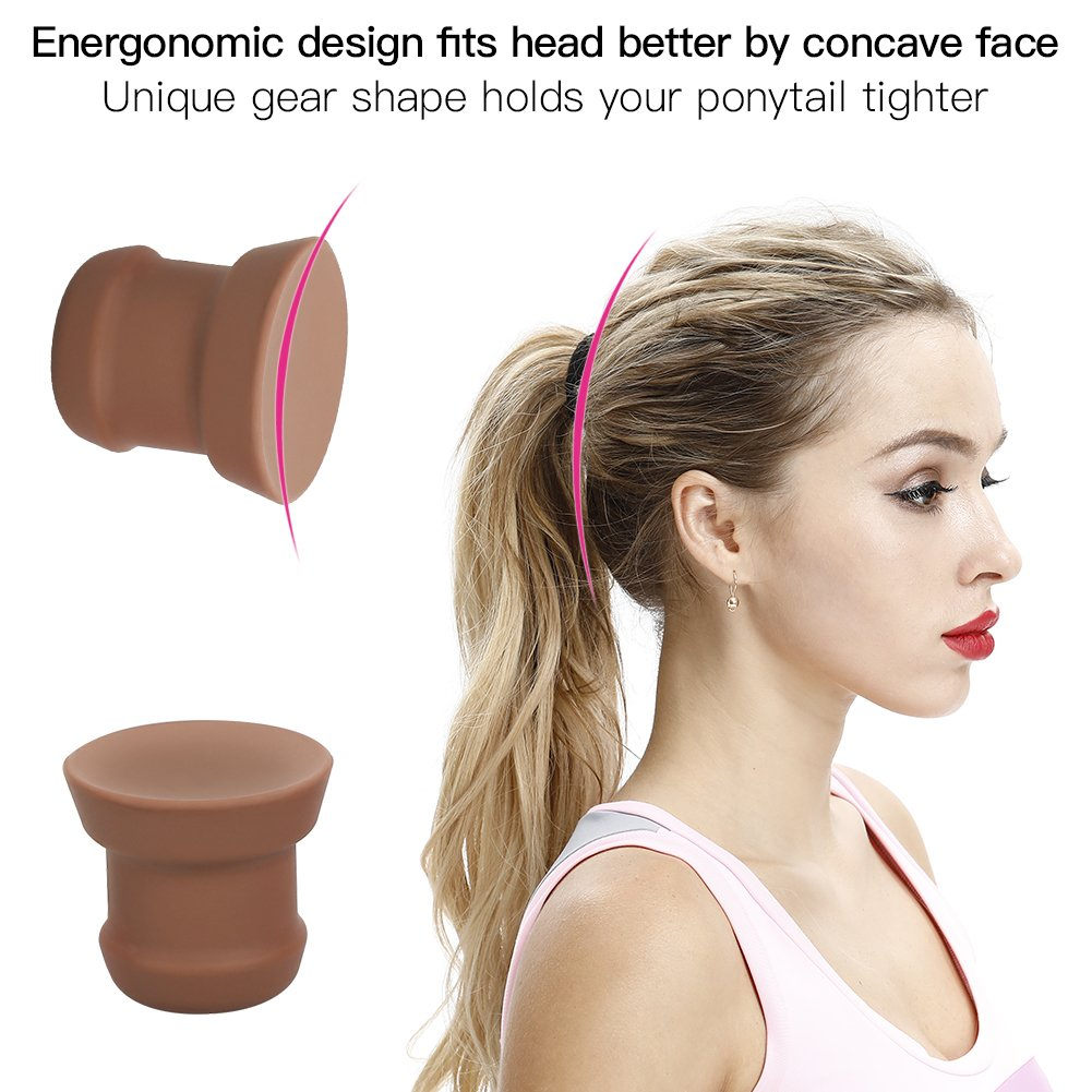 Ponytail Holder by Woage, Ponytail Enhancer, Ponytail Volumizer for Hairstyle, Brown, Best Gift for Girls & Women. by Woage (Image #3)