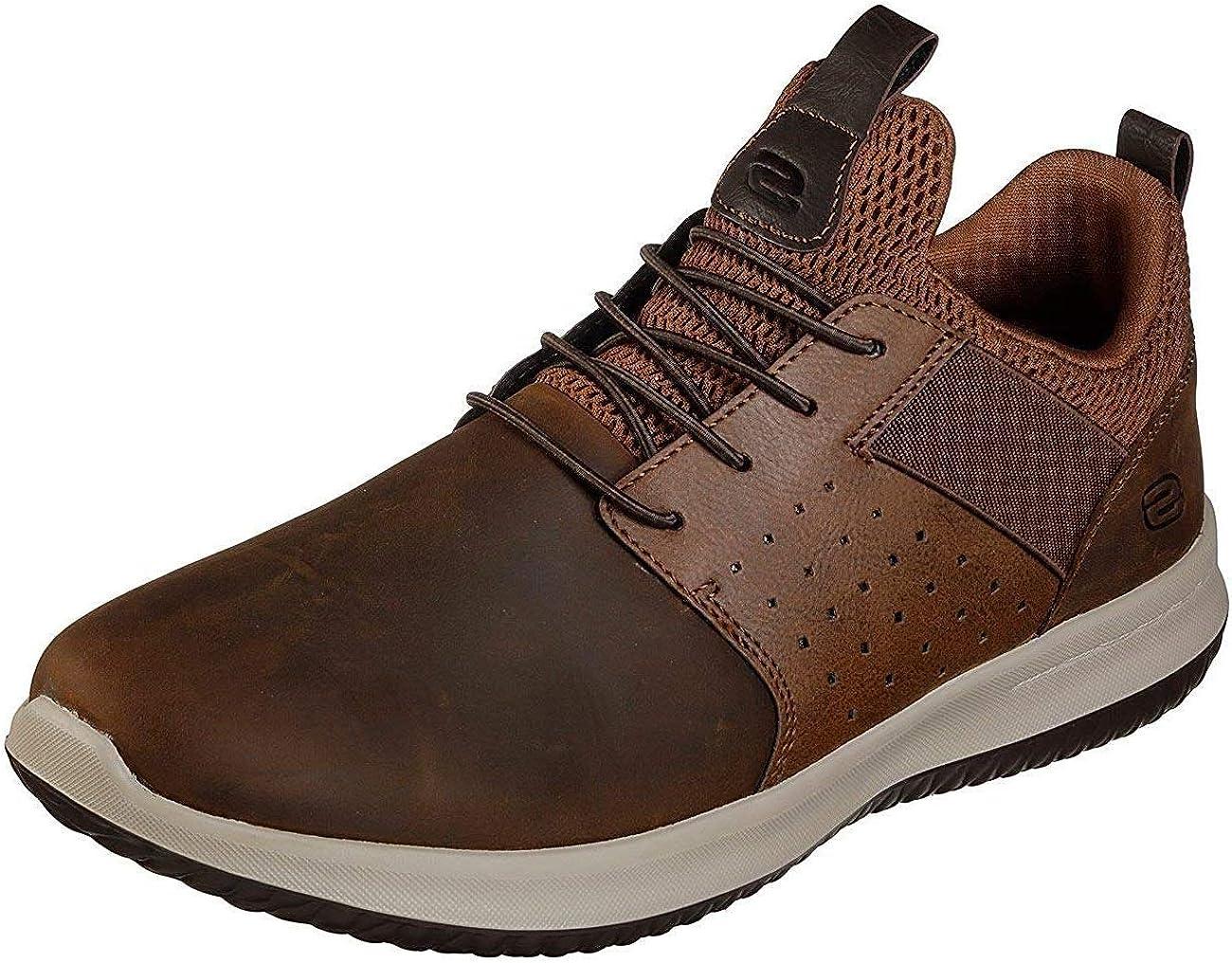 Skechers Herren Delson Axton Slip On Sneaker, Brauner CDB MzrwG