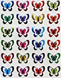 Butterfly Stickers for kids in metallic colors - Butterflies label - Decorative craft sticker- Permanent adhesive- 240 Pack by Royal Green