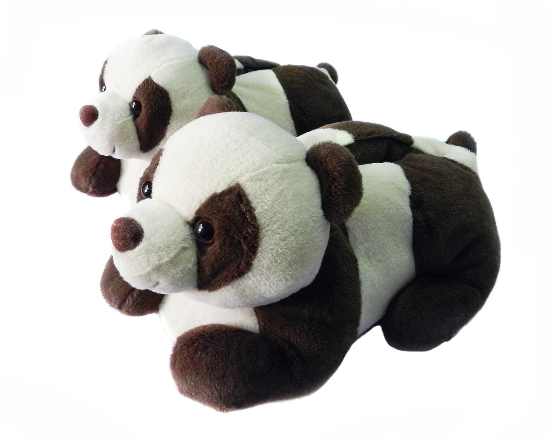 3D Novelty Slippers for Women Men and Kids, Winter Furry Animal Panda Bear Slippers