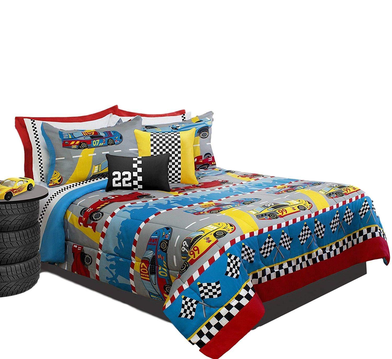 Kids Sport 2 Piece Comforter Set, Twin (Grand Prix) 60971