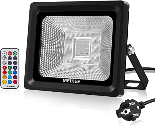 MEIKEE 30W Foco LED RGB en 16 opciones, 4 tipos de modos ...