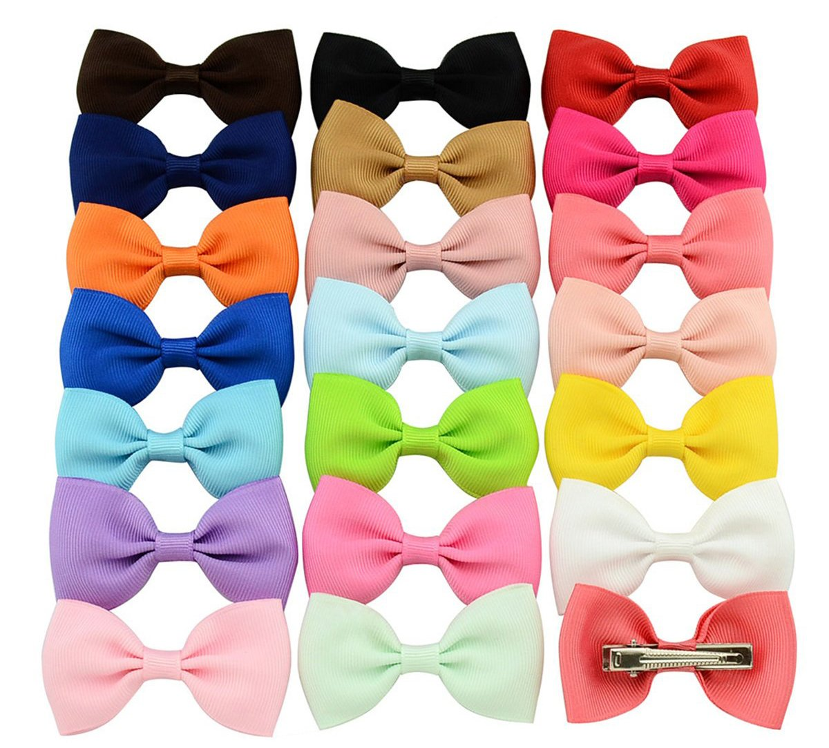 Calliar 2.75in Large Hairpin Hair Bows Clips Barrettes For Baby Girls Teens Toddlers Newborn ,20Pack-Color2