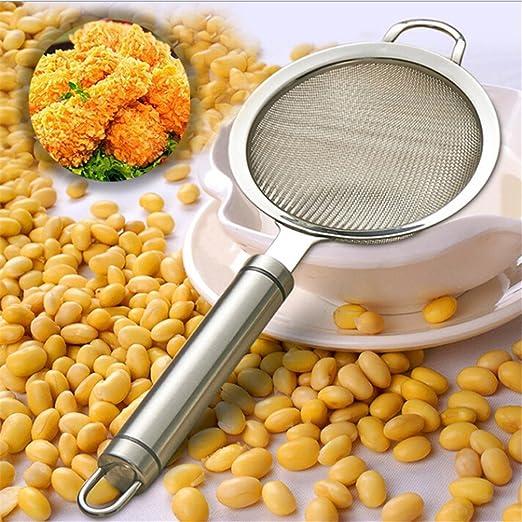orliverhl zumo de frutas de acero inoxidable Filtro de leche de soja Bean Hot Pot espumadera malla fina Colador y espumadera de grasa y espuma: Amazon.es: ...