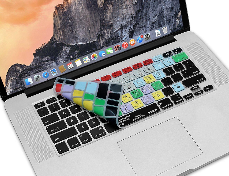 MacBook PRO piel protectora con teclas de acceso r/ápido funcionales XSKN/Ableton Live para MacBook Air Cubierta adhesiva para teclado hecha de silicona con atajos para teclado de idioma ingl/és; pel/ícula MacBook Retina de 13,
