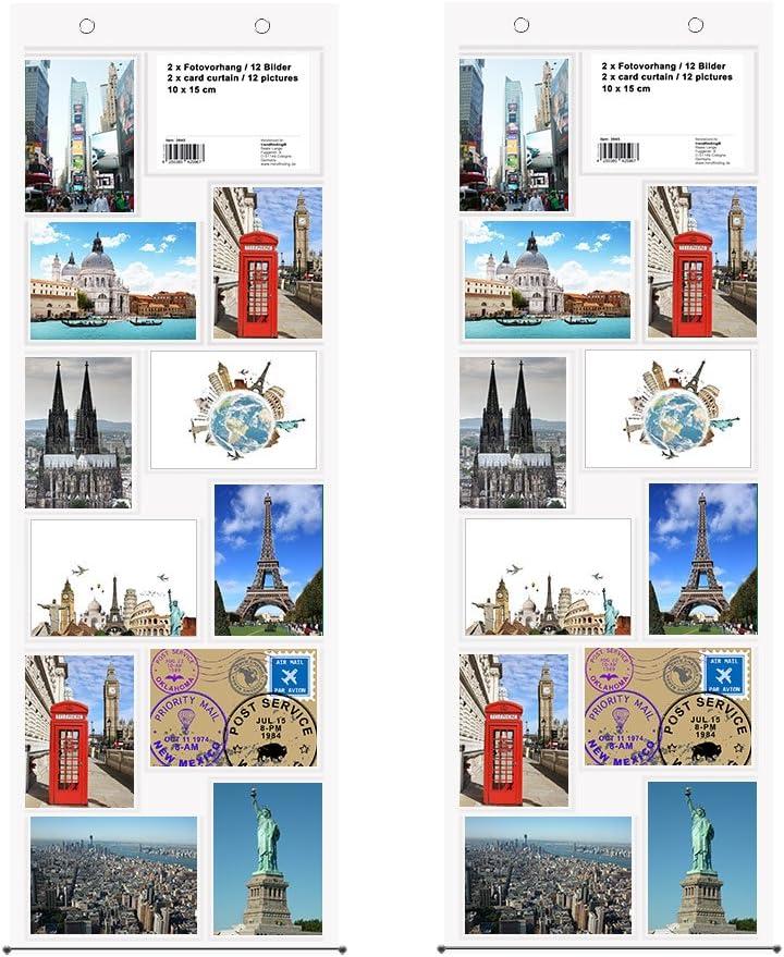 Visitenkartenvorhang für 96 Visitenkarten Taschenvorhang transparent Querformat