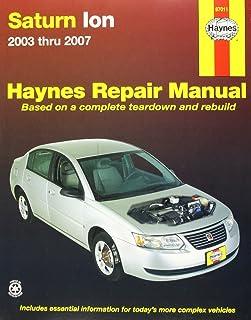 saturn ion 2003 2007 automotive repair manual haynes rh amazon com 2009 saturn vue service manual 2009 saturn vue repair manual