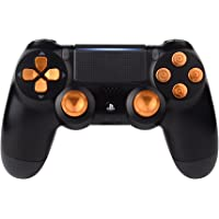 eXtremeRate Gold Metal Buttons for PlayStation 4 Controller, Aluminum Analog Thumbsticks & Bullet Buttons & D-pad Replacements Kits for DualShock 4 PS4 Slim Pro Controller