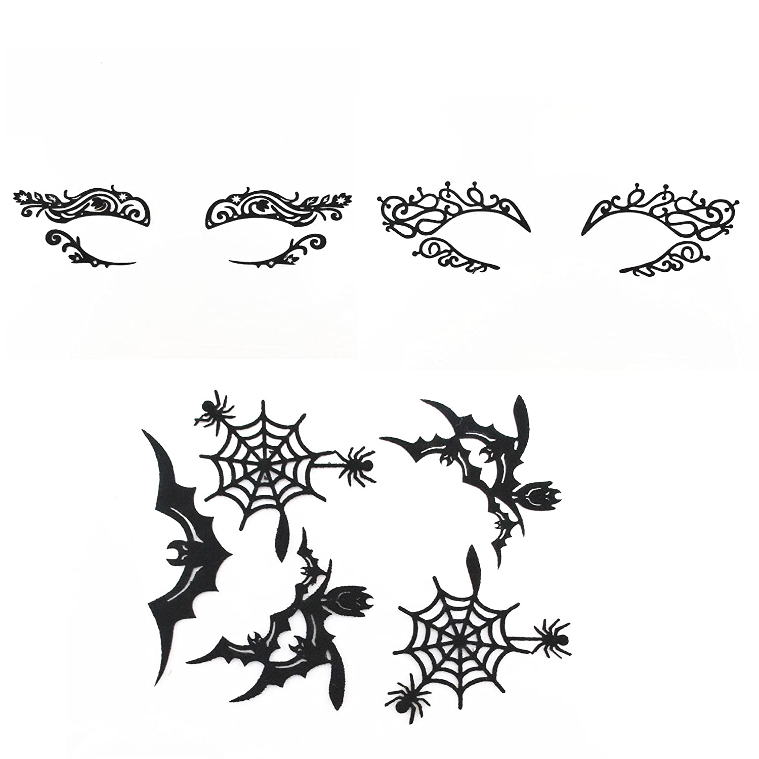 Black Eye Face Tattoo Stickers Temporary reusable desocration for Eye Shadow