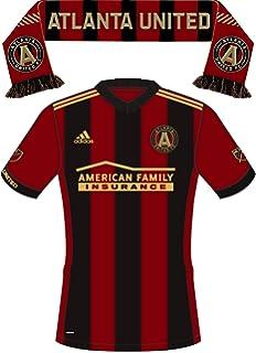 info for 4c952 0c523 Amazon.com : RUFFNECK MLS Atlanta United Power Stripes Scarf ...