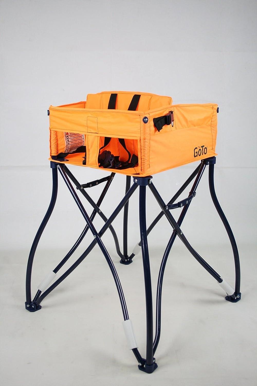Phoenix Baby Goto 2-in-1 Carseat Holder & Travel High Chair, Orange GT201-009