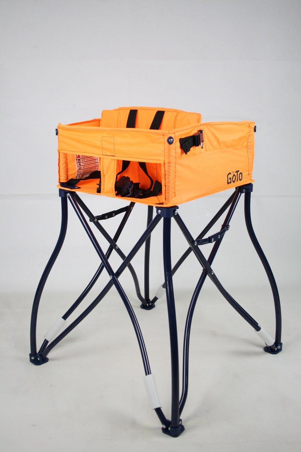 Phoenix Baby Goto 2-in-1 Carseat Holder & Travel High Chair, Orange by Phoenix Baby