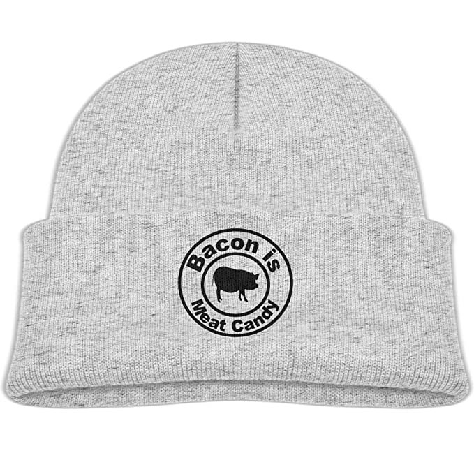 Amazon.com  Qiop nee Beanie Hat Wool Skull Caps Bacon is Meat Candy ... cd85d856e5f