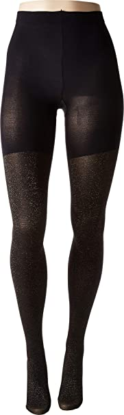 14e7760d70 Spanx Women s Metallic Shimmer Mid-Thigh Shaping Tights Gold Shimmer ...