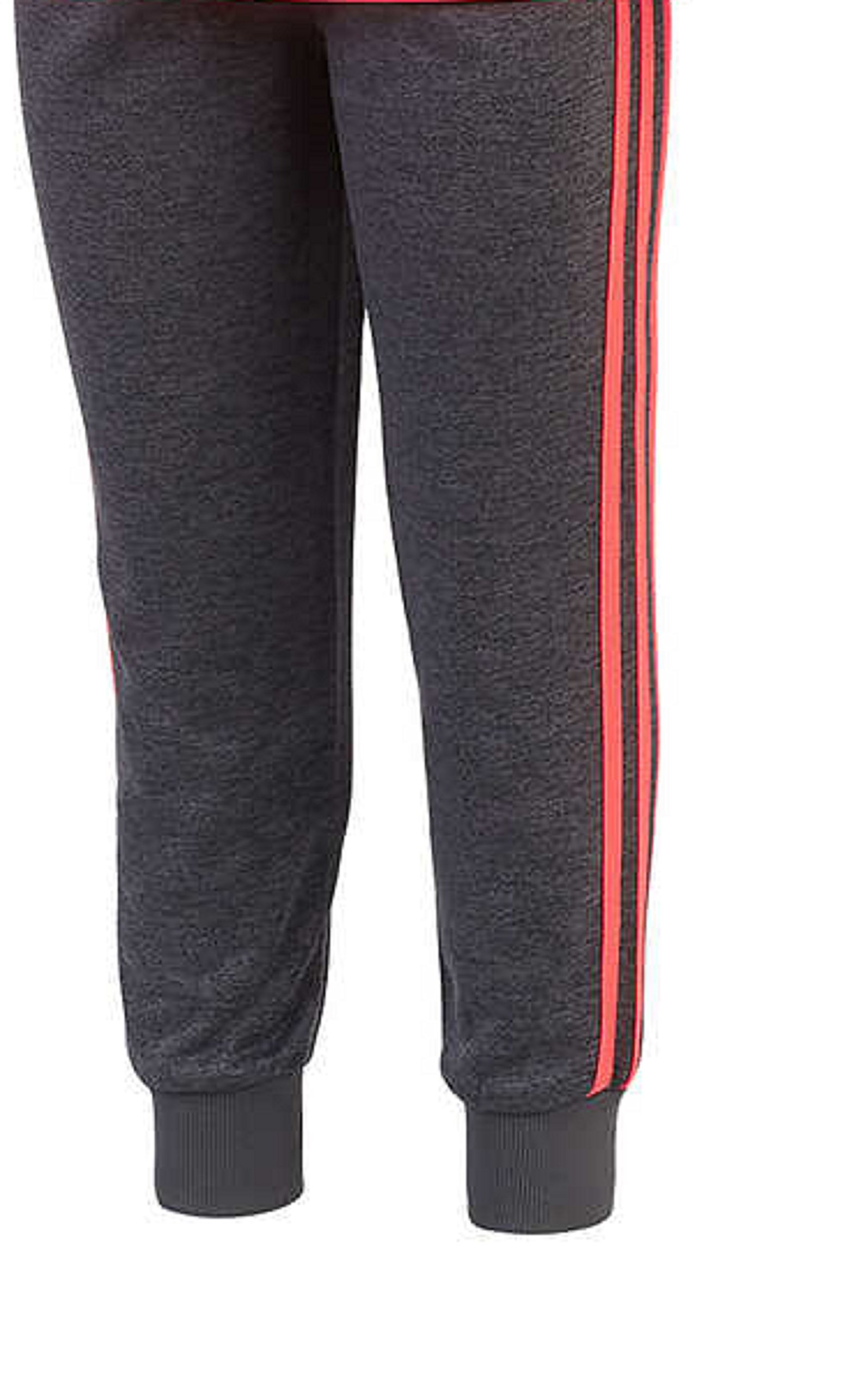 adidas Girls' Tricot Hoodie Jacket and Pant Set (4T, Heather Gray/Neon Pink) by adidas (Image #5)
