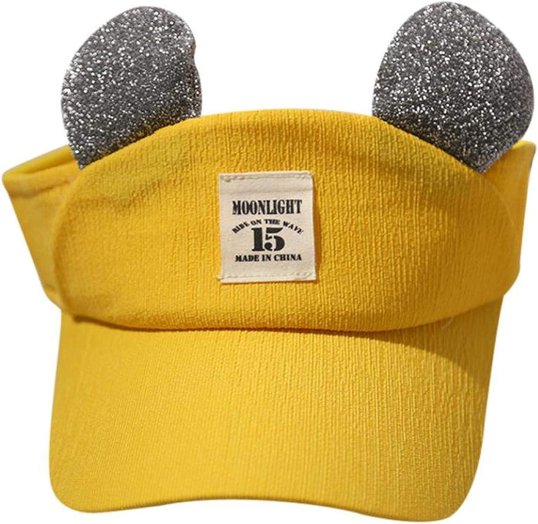 Cute Kids Children Solid Ear Empty hat Bongrace Hat Peak Baseball Cap Sunhat Childrens Three-Dimensional