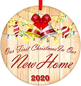 SICOHOME Our First Christmas in Our New Home Ornament 2020,3