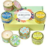 LA BELLEFÉE Scented Candles,Aromatherapy Candles,Fruity Fragrance, Party Candles,Holidays Gift Set, Natural Soy Wax…