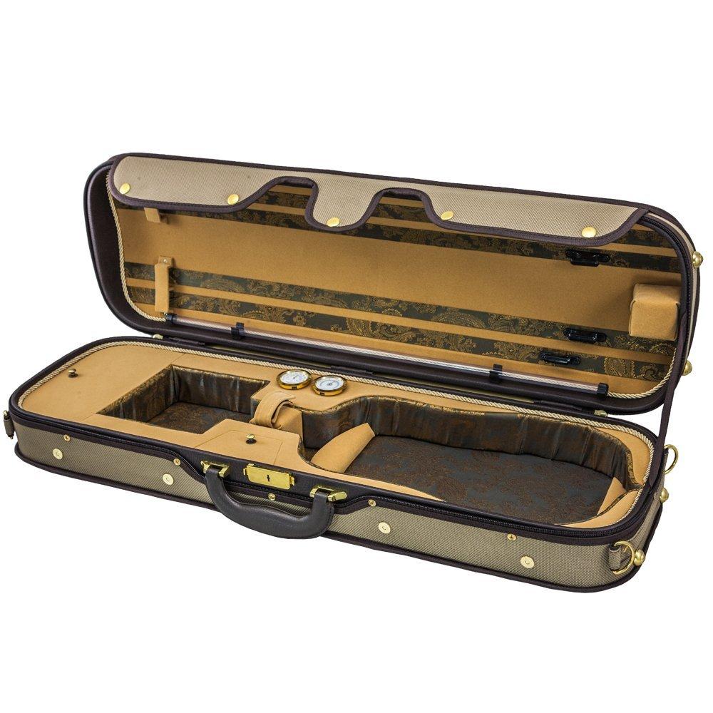 Sky Violin Oblong Case VNCW01 Solid Wood with Hygrometers Khaki/Khaki