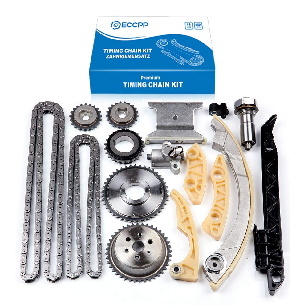 Engine Timing Chain Kit,ECCPP Automotive Replacement Timing Parts without  Water Pump Sets for 2008-2015 Chevrolet Malibu Equinox Buick L4 2 0L 2 2L
