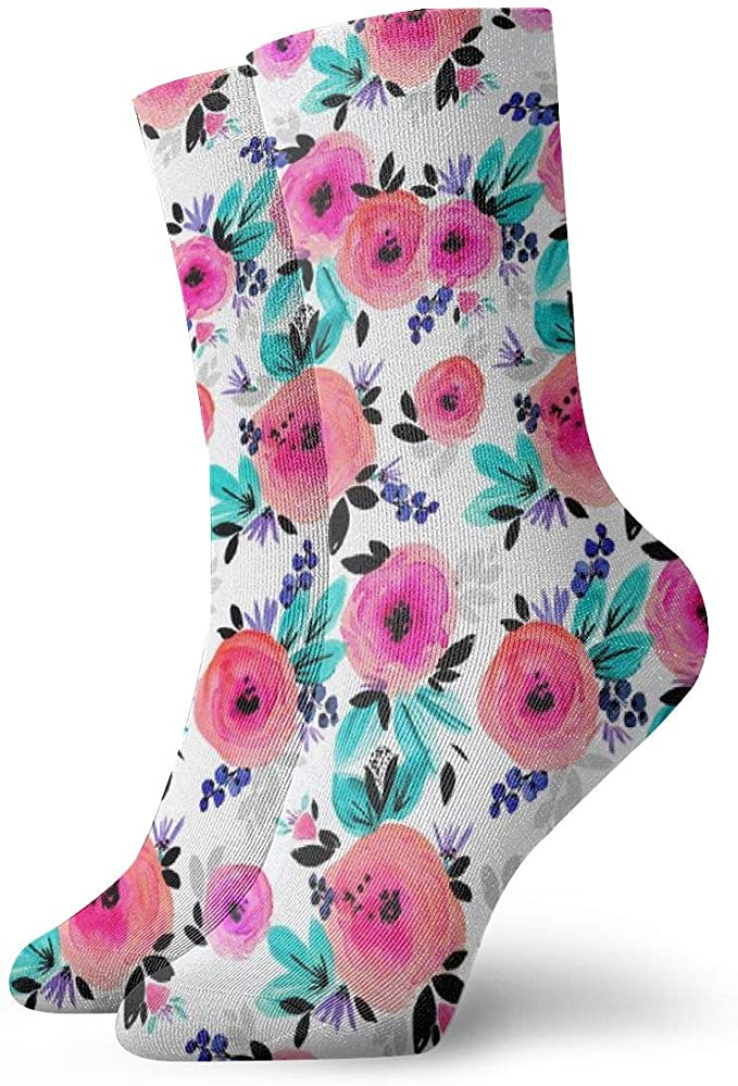 Huabuqi Calcetines de algodón para dama, Savannah Flower ...